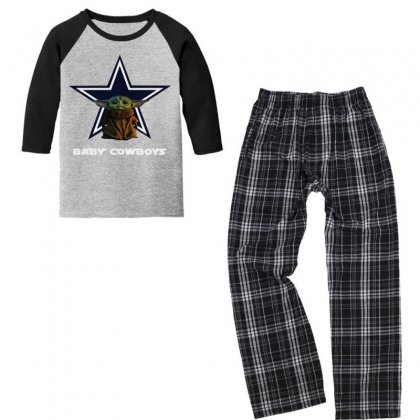 Baby Cowboys Youth 3/4 Sleeve Pajama Set Designed By Just4you