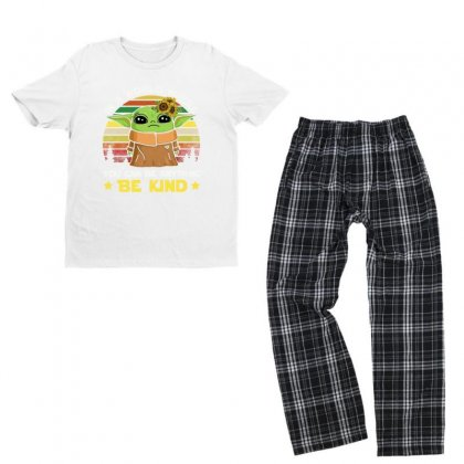 Be Kind Vintage Youth T-shirt Pajama Set Designed By Just4you