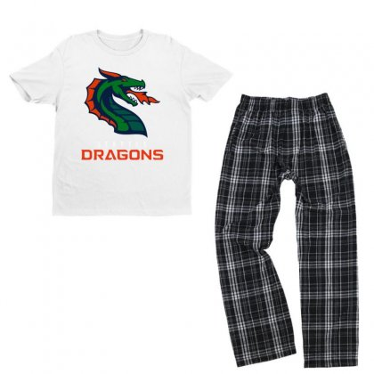 Cool Dragons Youth T-shirt Pajama Set Designed By Just4you