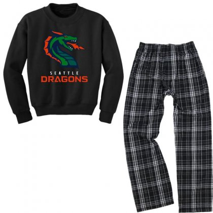 Cool Dragons Youth Sweatshirt Pajama Set Designed By Just4you