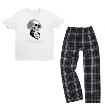 Stay Strapped Or Get Clapped Youth T-shirt Pajama Set Designed By Kakashop