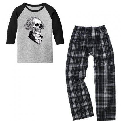 Stay Strapped Or Get Clapped Youth 3/4 Sleeve Pajama Set Designed By Kakashop