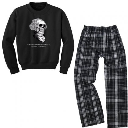 Stay Strapped Or Get Clapped Youth Sweatshirt Pajama Set Designed By Kakashop