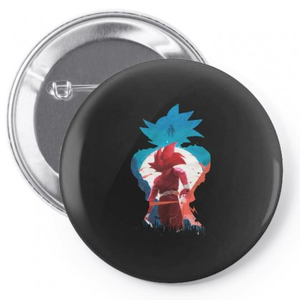 Dbz Pin-back Button Designed By Just4you