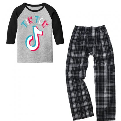 Musically Tik Youth 3/4 Sleeve Pajama Set Designed By Just4you