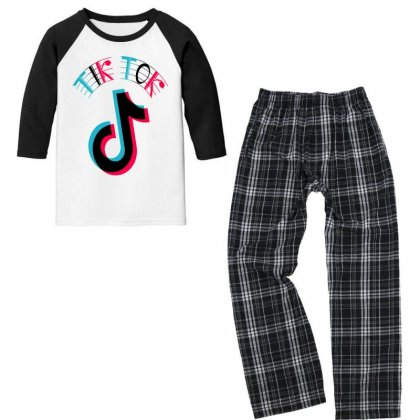 Musically Youth 3/4 Sleeve Pajama Set Designed By Just4you