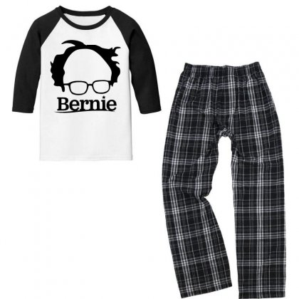 Sanders 2020   Black Youth 3/4 Sleeve Pajama Set Designed By Just4you