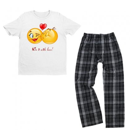 Love With Passion Youth T-shirt Pajama Set Designed By Btqe International