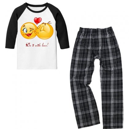 Love With Passion Youth 3/4 Sleeve Pajama Set Designed By Btqe International
