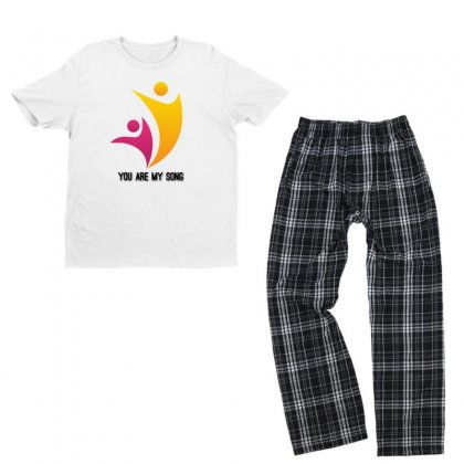 You Are My Song Youth T-shirt Pajama Set Designed By Btqe International