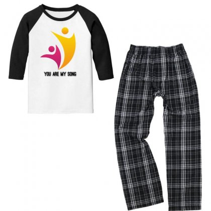 You Are My Song Youth 3/4 Sleeve Pajama Set Designed By Btqe International