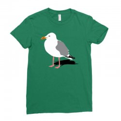 standing seagull funny Ladies Fitted T-Shirt | Artistshot