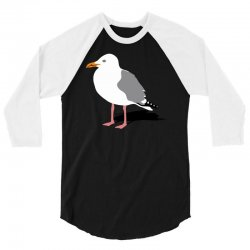 standing seagull funny 3/4 Sleeve Shirt | Artistshot