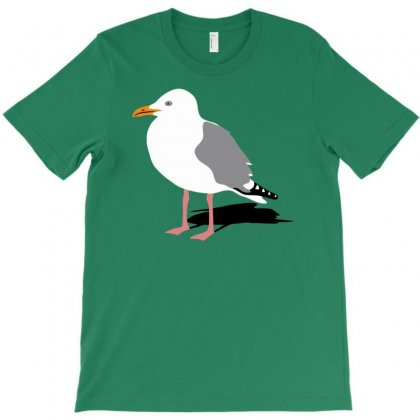 Standing Seagull Funny T-shirt Designed By Milamaftah