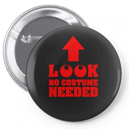 Look No Pin-back Button Designed By S4bilal