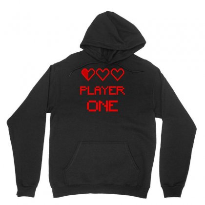 Player One Unisex Hoodie Designed By S4bilal