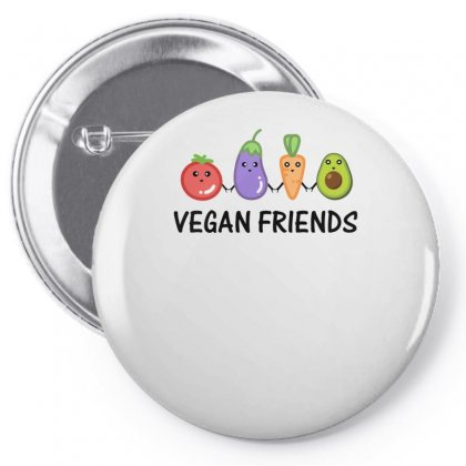 Vegan Friends Pin-back Button Designed By S4bilal