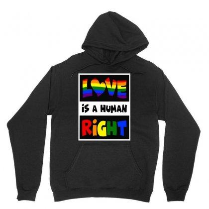 Queer Love Is A Human Right Unisex Hoodie Designed By Just4you
