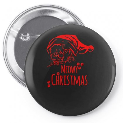 Meowy Christmas Pin-back Button Designed By S4bilal