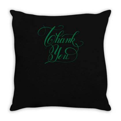 Thank You Throw Pillow Designed By S4bilal