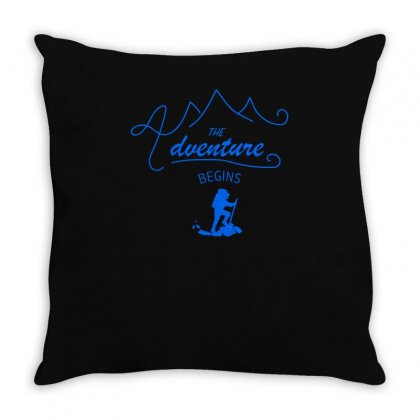 The Adventure Begins Throw Pillow Designed By S4bilal