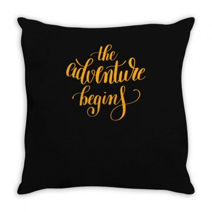 The Adventure Throw Pillow Designed By S4bilal