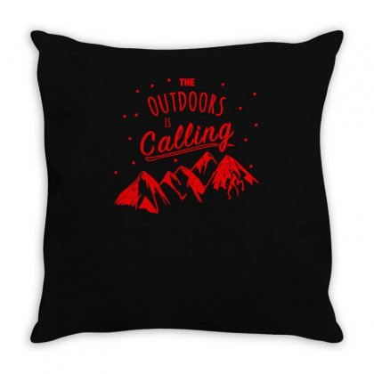 The Outdoors Throw Pillow Designed By S4bilal