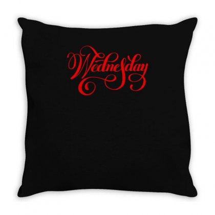 Wednesday Throw Pillow Designed By S4bilal