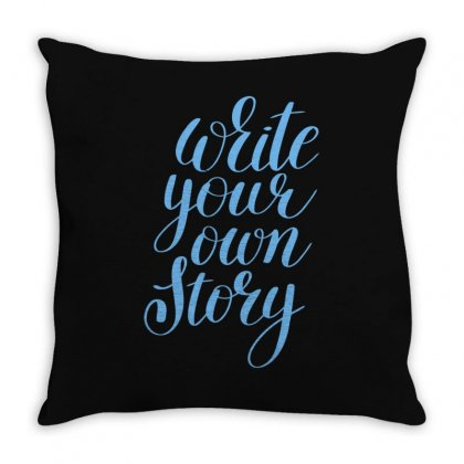 Write Your Story Throw Pillow Designed By S4bilal