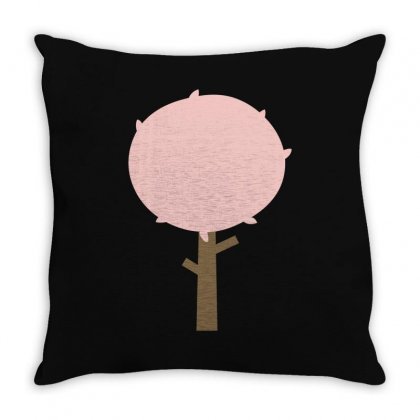 Autumn Tree Throw Pillow Designed By S4bilal
