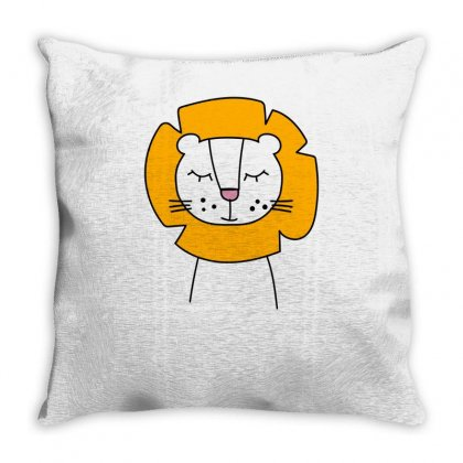 Cute Lion Throw Pillow Designed By S4bilal