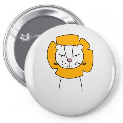 Cute Lion Pin-back Button Designed By S4bilal