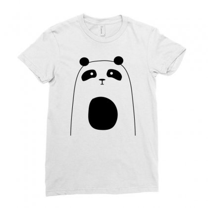 Cute Panda Ladies Fitted T-shirt Designed By S4bilal