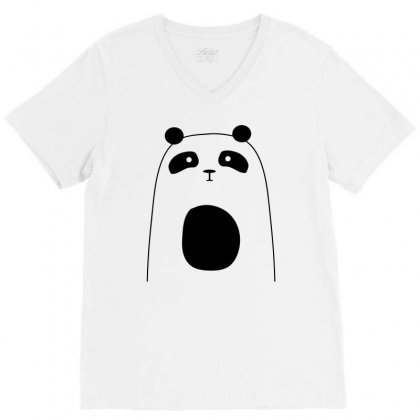 Cute Panda V-neck Tee Designed By S4bilal