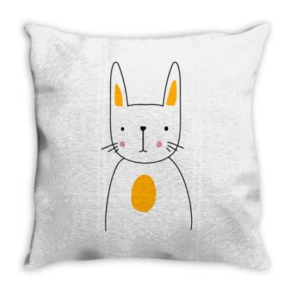 Cute Rabbit Throw Pillow Designed By S4bilal