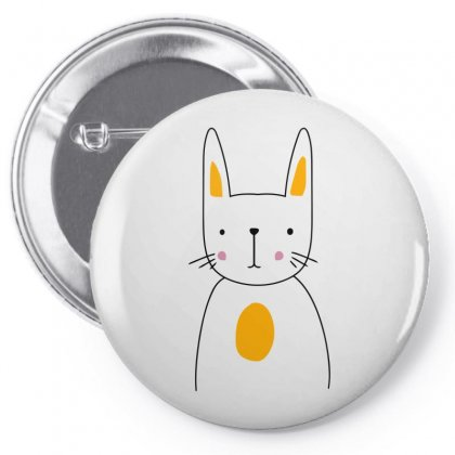 Cute Rabbit Pin-back Button Designed By S4bilal