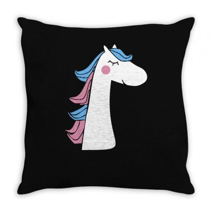 Cute Unicorn Throw Pillow Designed By S4bilal