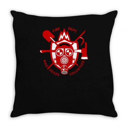 Fire Dept Mad Heads Throw Pillow Designed By S4bilal