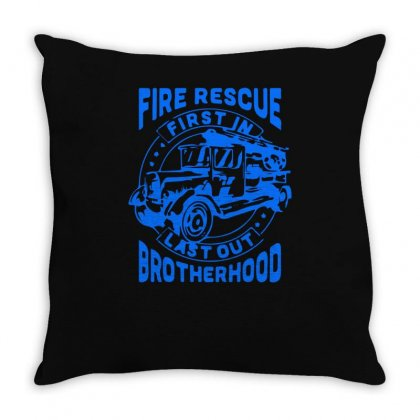 Fire Rescue First In Last Throw Pillow Designed By S4bilal
