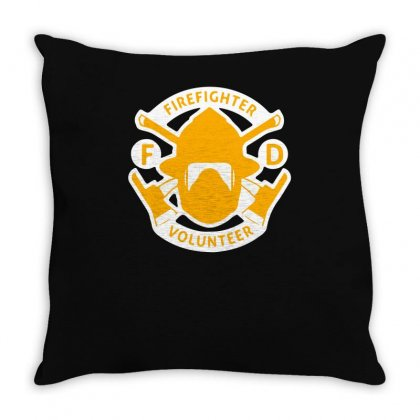 Firefighter Volunteer Throw Pillow Designed By S4bilal