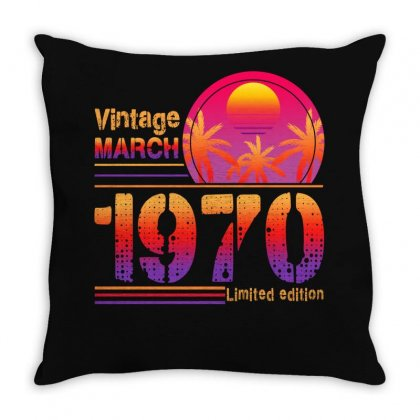 Vintage March 1970 Limited Edition Throw Pillow Designed By Sengul
