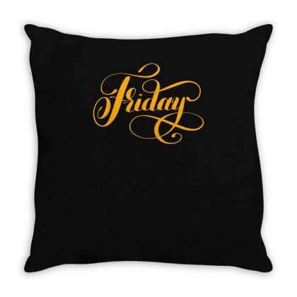Friday Throw Pillow Designed By S4bilal