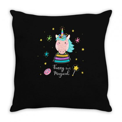 Funny But Magical Throw Pillow Designed By S4bilal