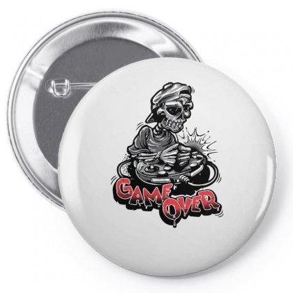 Game Over Skeleton Pin-back Button Designed By S4bilal