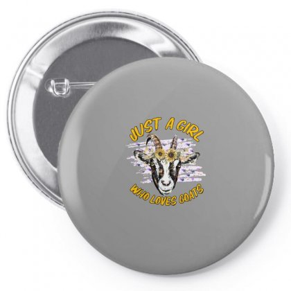 Just A Girl Who Loves Goats Pin-back Button Designed By Gurkan
