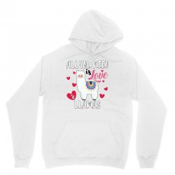 all you need is love and llamas for light Unisex Hoodie | Artistshot