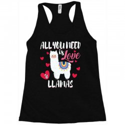 all you need is love and llamas for dark Racerback Tank | Artistshot
