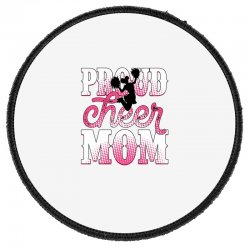 Proud Cheer Mom For Light Round Patch Designed By Neset