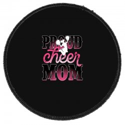 Proud Cheer Mom For Dark Round Patch Designed By Neset