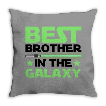 Best Brother In The Galaxy For Light Throw Pillow Designed By Gurkan